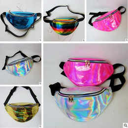 Wholesale Transparent Jelly Bags - Waist Bag Designer Laser Hologram Transparent Waist Packs Casual Travel Waterproof PVC Jelly Bags Small Unisex Hip Bag 6colors Free Shipping