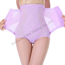 Wholesale Full Steel Bone Corset - Wholesale- Purple Butt lifter Full Body Shapers Steel Boned Corset High Waist Design Control Panty Girdles Sex Enhancer Belly Hip Support