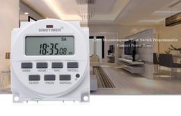 module de relais unique Promotion SINOTIMER 220 - 240V AC / 12V DC Interrupteur de minuterie programmable 7 jours avec relais listé UL et fonction de compte à rebours + B