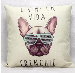 Wholesale French Sofas - RUBI frenchie polyester cushion wihtout inner french bulldog animal pillow pattern design decorative throw pillows sofa cojin