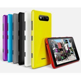 Wholesale Window Cellphones - Original Refurbished Nokia Lumia 820 Windows Phone 4.3 inch Dual Core 1GB RAM 8GB ROM 8MP Camera GPS WIFI Unlocked Phone Free Post
