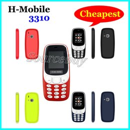 Wholesale Cheapest Game Player - 1.77 Inch Color Screen Cell phones H-Mobile 3310 Cheapest 2G GSM Dual SIM Mobile Phone with Back Camera Flashlight Bluetooth Fun & Games