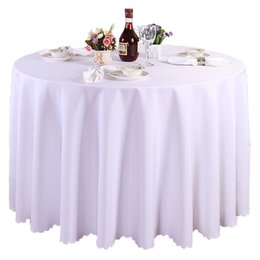 "Wholesale Tablecloths Wholesale For Weddings Free - 10PCS LOT 118"" Tablecloth Table Cover Round Satin for Banquet Wedding Party Decoration Supplies DHL Free Shipping"