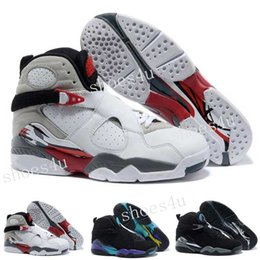 Wholesale Bunny Basketball Shoes - Retro 8 Basketball Shoes Men Black Zapatos Homme Replicas Retro Shoes J8s Sports Sneakers Bugs Bunny Playoffs Size 41-47