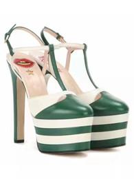 Wholesale Trendy Platform Wedges - Women Wedges Platform High Heels Sandals Luxury Brand Genuine Leather Summer Shoes Fashion Trendy Party Pumps Size 35-41