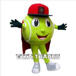 Wholesale Tennis Ball Mascot - Tennis Ball Mascot Costume Cartoon Carnival Party Costume Free Shipping
