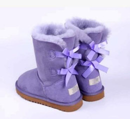 Wholesale Womens Purple Heels - 2017 Christmas Promotion Womens boots BAILEY BOW Boots 2017 NEW Snow Boots for Women