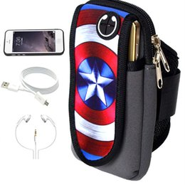 Wholesale Hole Card - For Iphone 7 Plus Sport Armband Arm Band Belt Cover with Earphone Hole Running GYM Bag Case Pouch