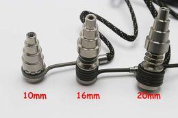 Argentina Venta caliente 6 en 1 de uñas de titanio E Digital Fit Nail plana 10 mm / 16 mm / 20 mm calentador de la bobina D Digital Nail para tubos de vidrio Suministro
