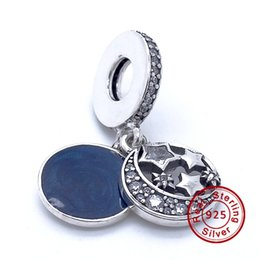 Wholesale Hanging Charms Pandora - 2016 Vintage Night Sky Hanging Charm 100% 925 Sterling Silver Bead Fit Pandora Fashion Jewelry DIY Charm Brand