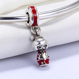Wholesale Japanese Kokeshi Charms - Real 925 Sterling Silver Not Plated Kokeshi Japanese Doll Silver Hanging Charm European Charms Beads Fit Pandora Chain Bracelet DIY Jewelry
