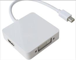 Deutschland Für MacBook Air Mini Displayport Mini Display Port Display Port 3 In 1 zu HDMI / DVI / DP-Schnittstelle MINIDP zu Triglinienbeleuchtung Versorgung