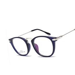 Wholesale Computer Points - Wholesale- TR90 Computer glasses Retro Unisex Metal points womens glasses frame Clear Lens UV Protection female eyeglasses oculos De Grau