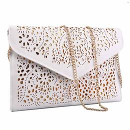 Wholesale Light Blue Clutch Evening - Fashion Women Shoulder Bags Hollow Evening Day Clutch Women Elegent Messenger Bag Ladies Handbags