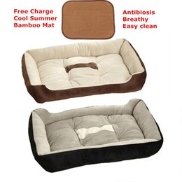 Wholesale Small Dog Houses - 50x40cm News Warm Dog Beds Sofa Winter Mini Cashmere-like Soft Pet Cat Bed Pet Nest Luxury Dog Mats Nest Dog Houses & Kennels Accessories
