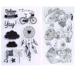 Wholesale Scrapbooking Sheets - New Transparent Clear Silicone Stamp Seal For DIY Scrapbooking photo Album Decorative Rubber Stamp Sheets