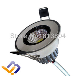 Wholesale Led Switch Cover - Wholesale- Super 3w LED COB Ceiling Light Cool White Warm White LED Down Light Withe color Cover with reflection cup AC110-240V