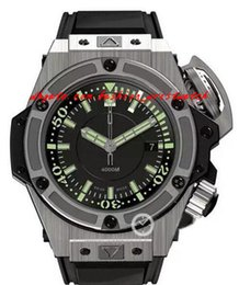 Wholesale Bracelets Men Rubber Stainless Steel - Fashion Luxury Watches Unique Mens Watches 48mm Automatic Black Dial Watch Rubber Bracelets Sports Watch And Outdoor Men Watch