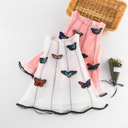 Wholesale Chinese Dresses For Kids - 2017 fancy dress costumes for kids baby girl butterfly dress baby Yarn skirt Three-dimensional butterfly Children's vest skirt K052
