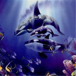 Deutschland Neue DIY Mosaik Diamant Malerei Kreuzstich kits tier delphin voll Harz runde Diamanten Stickerei hand Home Decor yx0748 cheap animal crossing dolphin Versorgung
