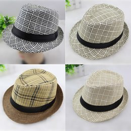 eb4c4899a6c Spring summer Men Women Straw Hats Soft Fedora Panama Hats Outdoor Stingy  Brim Caps Unisex Fashion Street Top Hats Jazz Cap GH-61