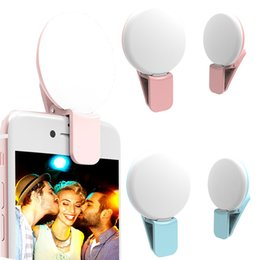 Wholesale Mini Flashing Leds - Newest Leds Mini Cellphone fill light Smartphone For iPhone IOS Android Cell Phone Camera Fill Light Portable LED Flash Fill Light