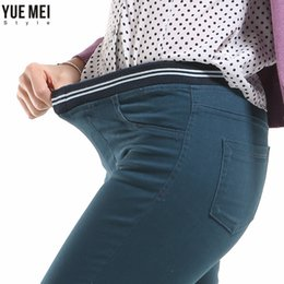 Wholesale Stretch Jeans Leggings For Women - Wholesale- Autumn style Jeans woman Candy Color Slim leggings women jeans Skinny Stretch Pencil Pants Plus Size jeans for women's Trousers