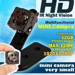 Wholesale Mini Spy Video Recorders - Wholesale- Card HD Sport Mini Camera DV DC Voice Video Recorder spy Infrared Night Vision Digital Small Cam camcorder hidden