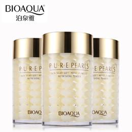 Wholesale Sleep Mask Brands - Face Masks BIOAQUA Brand Pure Pearl Essence Sleeping Mask Face Skin Care Replenishment Korean Facial Cream Whitening Hydrating Night Masks