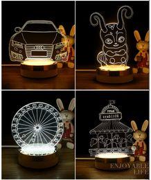 Wholesale Heart Strange - LED 3D lamps chandeliers Build atmosphere Strange new DIY creative gifts Small night light Children's cartoon berth lamp