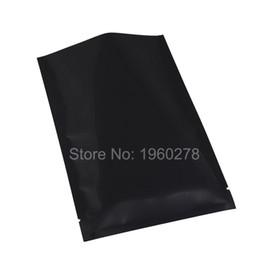 """Wholesale Vacuum Bags Set - 10x15cm  4x6"""" black top open Herb Packing Bags heat seal Aluminium Foil mylar vacuum plastic pouch 100 pieces lot"""