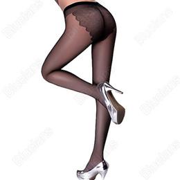 Wholesale Skinny Bikini - Wholesale- 2016 New Fashion Women Lady Bikini Charm Tights PantyHose Sheer Rayon Stocking Skinny 2 Colors 5Q1B 7T4R