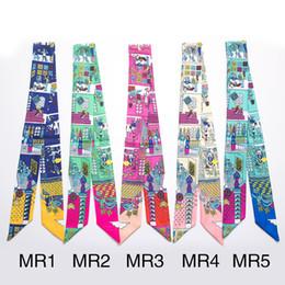 Wholesale Wholesale Designer Silk Scarves Women - Wholesale- wholesale 2016 fashion print twilly pattern designer floral women scarf silk