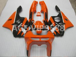 Wholesale Kit Fairings Kawasaki Zx6r 1995 - 3gifts Fairing Kit for KAWASAKI Ninja ZX6R 636 94 97 ZX 6R1994 1995 1996 1997 zx6r Compression mold Fairings Yellow Black A1
