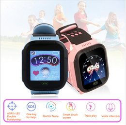 Wholesale Android Agps - T09 Children Smart Watch LBS AGPS Anti Lost Kids Smart watch FlashLight Camera SIM SOS Alarm for Android IOS support Camera USB Interface