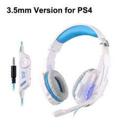 Wholesale Laptops Microphones - Game Gaming Headphone 3.5mm Headset Earphone KOTION EACH G9000 Headband with Microphone LED Light for Laptop Tablet Mobile Phones