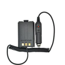 Batería de radio walkie talkie online-Eliminador de batería Cargador de coche para radio portátil UV 5R UV-5RB UV-5RA Radio bidireccional Walkie Talkie Accesorios