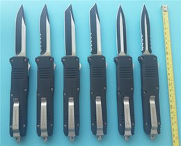 Wholesale Knife Box Sets - Benchmade Hacker Tac Full size C07 double action automatic knives 440 Steel 4 inch blade 4600 camping knife with nylon sheath and box