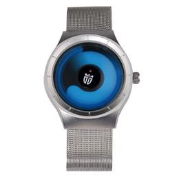 Wholesale Mesh Watches - Brand new luxury Novel cool Watch Men stylish Relogio Masculino Men's Watch Stainless Steel Mesh Band Quartz Wristwatch casual watches