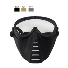 Wholesale Bee Mask - Airsoft Paintball Shooting Equipment Face Protection Gear Full Face Bee Style Tactical PC Lens Paintball Mask