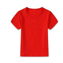Wholesale Mixed Kids Clothes - mix sizes and colors kids red t-shirts wholesale kid shirts clothing boutique children t-shirts solid blank t-shirt boy kids tees T-shirt