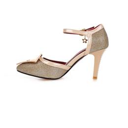 Heiratsbeutel online-Im Sommer, europäische und amerikanische modische Schuhe mit hohen Absätzen, spitze Schnallentasche und Schnalle Ehesandalen AYY 230-1