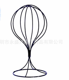 Wholesale Wholesale Wig Head Mannequins - Metal Mesh Head Mannequin Art Hat Stands forHat Rack Store Wig Making Styling Hair Accessories Display Head Model