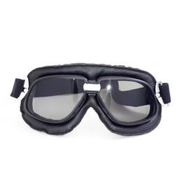 Wholesale Vintage Skis - 2017 Newest Universal Motorcycle windproof Dustproof Vintage Ski Snowboard black Goggles Lens Frame Eye Glasses leather frame high quality