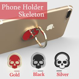 Wholesale Skeleton Phone Cases - Mobile Phone Holder Figer Phone Ring Magnet Bracket 360 Degrees Magnetic Skeleton Phone Ring Holder Car Navigation Frame Zinc Alloy