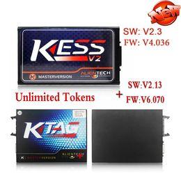 Wholesale Honda Tuning Kit - V2.33 KESS V2 OBD2 Manager Tuning Kit V4.036 + V2.13 K-tag ECU Programming Tool V6.070 KESS KTAG No Token