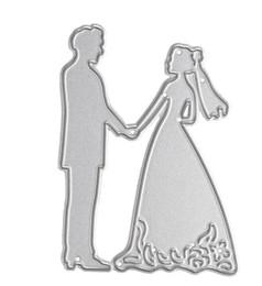 Wholesale Draw Car Paint - Metal Bride Groom Wedding Cutting Dies Stencils For DIY Scrapbooking Card Paper Craft Photo Album Painting Embossing Decor Craft