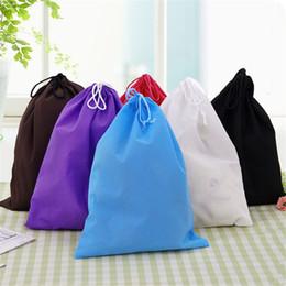 Wholesale Wholesale Lingerie Toys - Wholesale- 39*30cm Nonwovens Storage bag Dust Bag Handbag Travel Sundries Storage Kids Toys Travel Shoes Laundry Lingerie Makeup Pouch