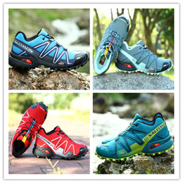 Wholesale Drop Ship Camping - Drop Shipping 2017 High Quality New Zapatillas Speedcross 3 Running Shoes Men Walking Ourdoor Sport shoes Athletic Shoes Size 40-46