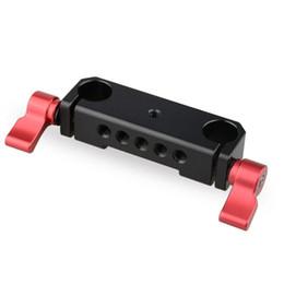 Wholesale Dslr Base Plate - CAMVATE 15mm Railblock Rod Clamp Mount Hloder fr DSLR 15mm Rail Rig Cage Base Plate